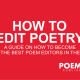 How To Edit Poetry